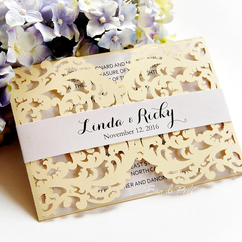 Wedding Card Template swirl cutting file K104 svg dxf ai