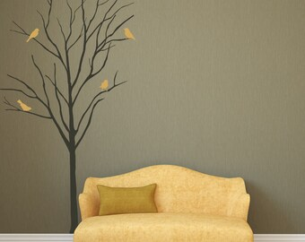 Superior Baby Room Designs Realistic Winter Tree With Birds Stick On Wall Art Wall  Sticker Decals Art