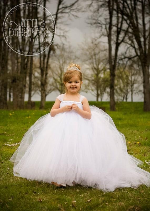 The Miniature Bride Flower Girl Dress with Detachable Train
