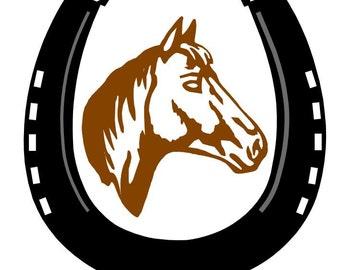Embroidery pattern - horse & horseshoe