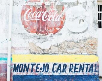 Merida Mexico Photography, Yucatan Mexico Art, Vintage Wall CocaCola, Mexico Street Art, Mexico Travel Photography, 8x12 Photo Print