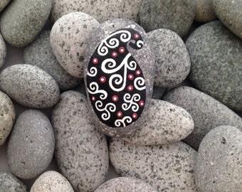 Painted rock, painted stone, decorative rock, birthday gift, birthday present, mandala rocks, mandala stone, rock art, hand painted rock