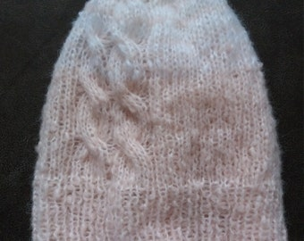 Hand knit hat, very cozy and beautiful