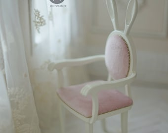 Dollynature 1/6 Scale Bunny Chair For 12 Inch Fashion Doll Such As Blythe Or Poppy Parker ~Only the Pink one