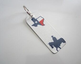 Texas Star License Tag Keychain