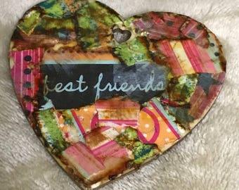 Handmade Wooden Heart Shaped Ornament