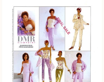 Bustier Jacket Pants Skirt stole sewing pattern McCalls 3067 Sz 14 to 18