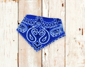 Baby Bibdana (CLASSIC BLUE Bandana) bandana bib, drool bib, bibdanna, baby bib, baby shower gift, baby bandana, handkerchief bib