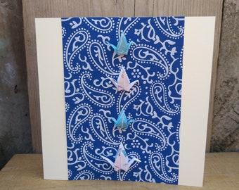 Origami 4 Paper Crane Card