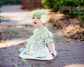 Crochet PATTERN - Gracefully Vintage Hat and Flower - All Sizes: newborn to adult - Easy - PDF 116 - Sell what you Make