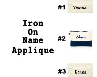 Iron on Name Appliques, Customized Name, Fabric Applique Decals, DIY Kit, Personalized Gift, By DIY Sewing