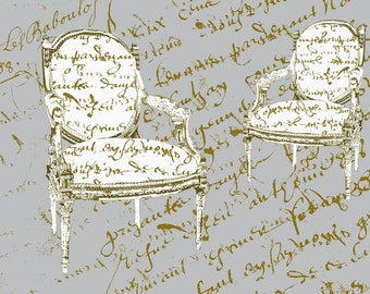 Two French Chairs, Gray