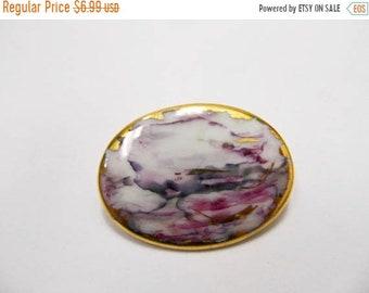 On Sale Vintage Hand Made Porcelain Pin Item K # 3117