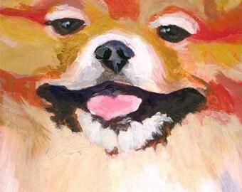 Pomeranian Art Print of Original Acrylic Painting - 11x14 Dog Art