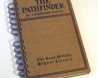VINTAGE PATHFINDER NOVEL Handmade Journal Vintage Upcycled Book James Fenimore Cooper Writers Diary