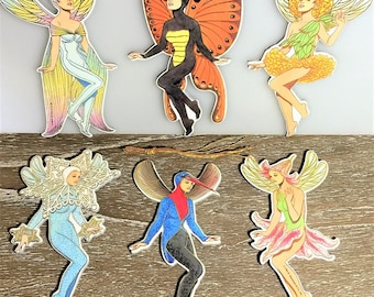 Pkg of 6 FAIRY Christmas Tree ORNAMENT s by Artist Tom Tierney Rare Mint/Factory Sealed Shackman