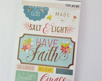 Faith & Inspiration Sticker Book By Recollections 704 pc