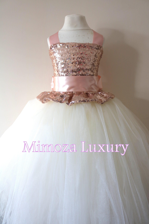 Rose Gold Flower Girl Dress Rose Gold Bridesmaid Dress
