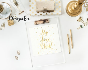 Foil Print - Pop Fizz Clink