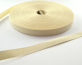 Twill cotton 14.5 mm ecru Ribbon