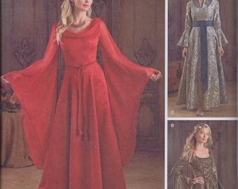 Simplicity 1045 Misses Women's Medieval Game of Thrones RenFaire Costume Dress UNCUT Sewing Pattern