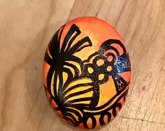 Abstract Hand Painted Stone