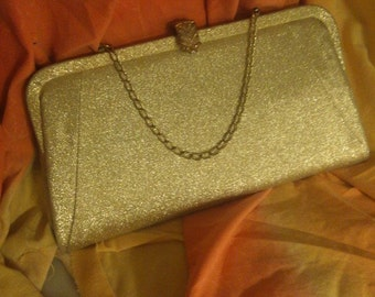Purse Prom Bridal Gold Vintage