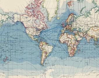 World map printable etsy world map printable digital downloadntage world map old world map vintage art image instant digital downloadintable mapp digital gumiabroncs Images