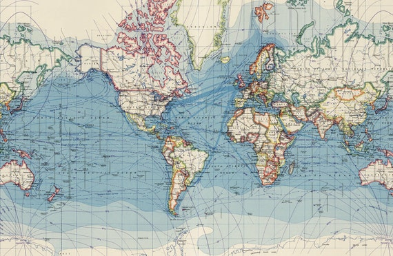 World map printable digital downloadntage world map old world vintage world map old world map vintage art image instant digital downloadintable mapp digital from antiquedigitalprint on etsy studio gumiabroncs Gallery