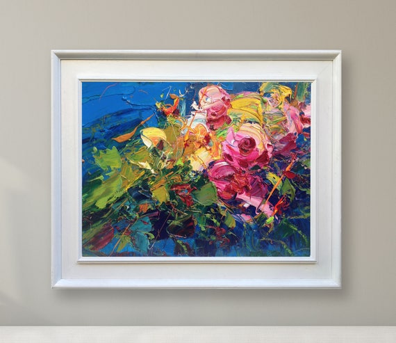 Abstract Flower Paintings On Canvas