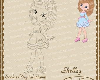 Shelley Digital Stamp