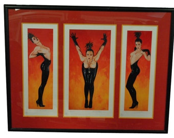 """Olivia De Berardinis, Framed, Signed, """"She Came From Planet Claire"""", 36 x 47, PA4599, Shipping Not Free!!!"""
