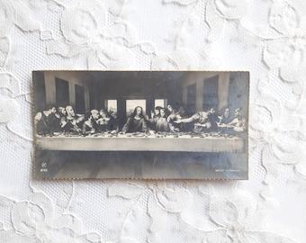 "1939 ""The Last Supper"" Antique Religious Card Holy Card - Leonardo da Vinci"