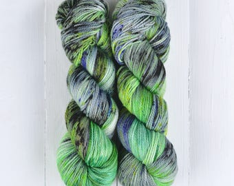NEW COLORWAY! Hand Dyed Tough Sock Yarn - Trolls