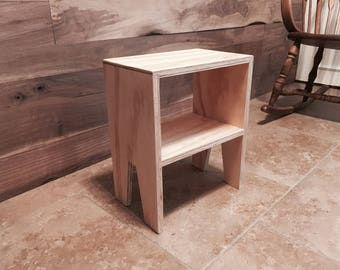 Modern Plywood Toddler Night Stand / Table / Book Shelf