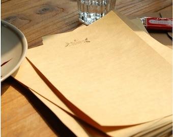 10 Sheets Kraft Paper Letter Writing Paper Sets