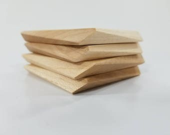 Asym Coaster - Set of 4 - Maple
