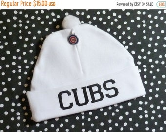 10% OFF SALE Newborn Baby Hat for the Chicago Cubs Fan Infant Cap Charm Beanie