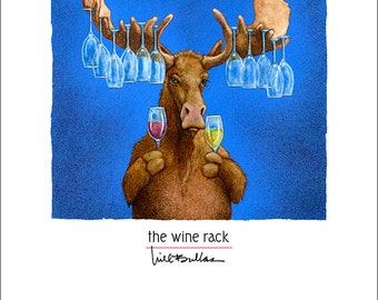 Will Bullas / art print / the wine rack... / humor / animals