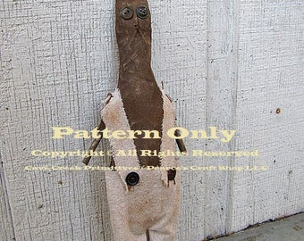 Extreme Primitive Rabbit Pattern, Primitive Rabbits, Sewing Patterns, Primitive Animals, Craft Patterns, Primitive Dolls, Country Farmhouse