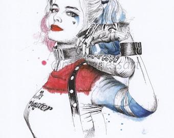 Harley Quinn Original Fine Art Print