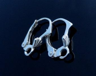 Sterling Silver, Lever Back, Ear, Earrings, Leverback, Ear Wires, Earring, Components Earring, Findings, Earring Hooks