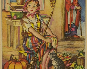 Vintage Children's Image (1963): from Cinderella. Fairy Godmother. Fairy Tale. NOT A BOOK.
