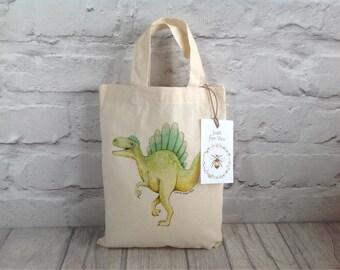 Dinosaur Party Bag / Gift bag / Green Dinosaur / Dinosaur Gift Bag / Dinosaur Goody bag / Kids Party bag / Dinosaur gift idea / Easter Gift