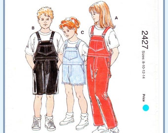 Boys' or Girls' Overalls Pattern Kwiksew 2427 Size 8-14