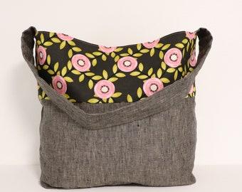 Project Bag, Knitting Project Bag, Knit Project Bags, Project Bag for Knitting, Linen Project Bag, Project Tote Bag Knitting Bag Crochet Bag