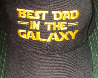 Best Dad in the Galaxy, Father's Day Hat, Best Dad Hat, Geek Dad, Embroidered Baseball Hat