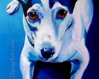 Jack Russell Terrier, Pet Portrait, DawgArt, Dog Art, Parson Russell Terrier, Jack Russell, Pet Portrait Artist, Colorful Pet Portrait, Dog