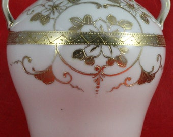 Ornate Hand Gilded Small China Vase