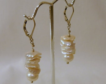 Handmade Fresh Water Pearl Earrings with Sterling Wire